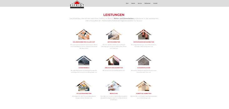 Eifridt Bau Website