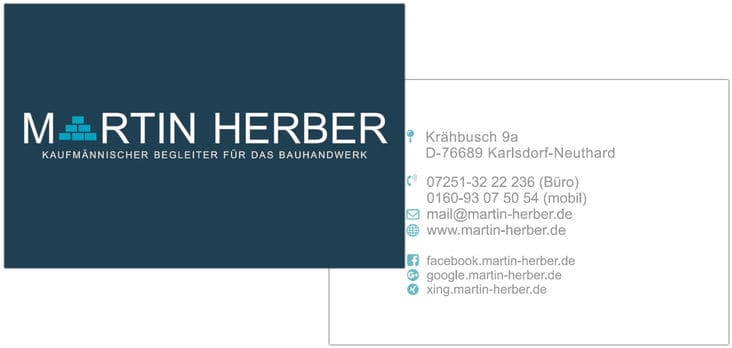 Martin Herber Name Card