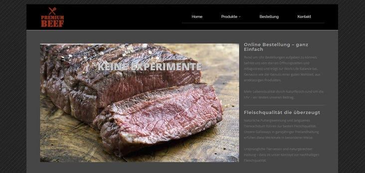 Premium-Beef Website